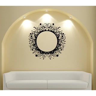 Circle Frame Vinyl Wall Decal