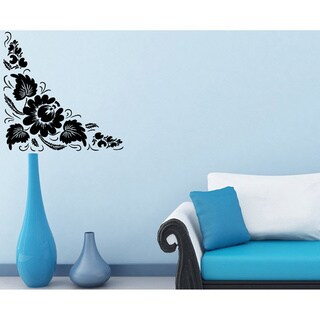 Corner Floral Ornament Wall Vinyl Decal