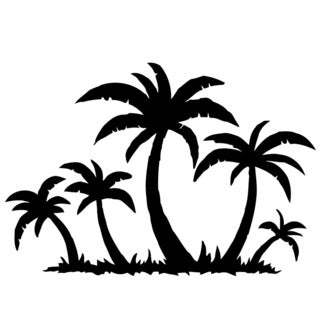 Palm Trees on the Beach Vinyl Wall Decal