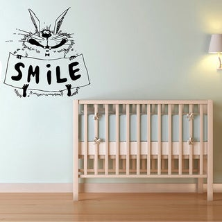 Cartoon Rabbit with Smile Sign Vinyl Wall Decal