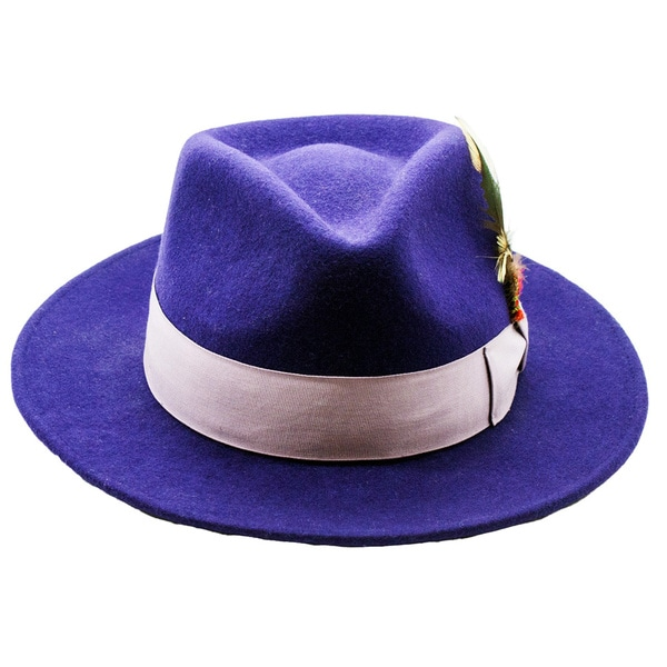 Shop Ferrecci Men s Purple Lavender Fedora Hat - Free Shipping On ... 40ceac7b47c