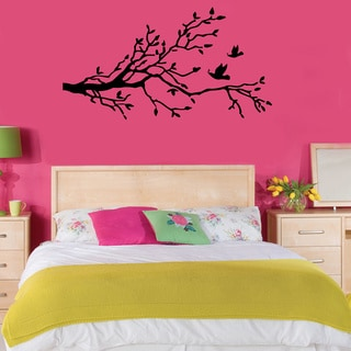 Birds Flying Near Tree Wall Vinyl Decal