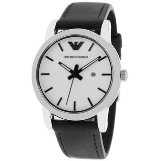 Armani Women's AR1695 Classic Luigi Black Leather Watch