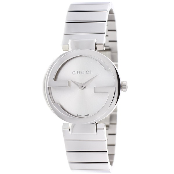 20762a837ce Shop Gucci Women s YA133503  Interlocking  Black Dial Stainless ...