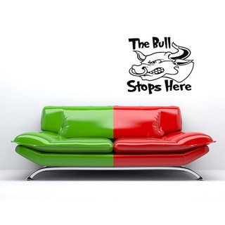 'The Bull Stops Here' Vinyl Wall Decal