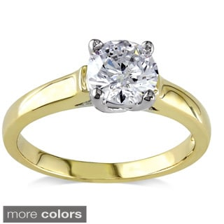Miadora Signature Collection 14k Gold 1ct TDW Certified Diamond Solitaire Ring (G-H, I1-I2)