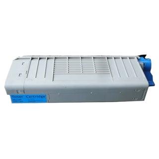 Insten Premium Cyan Color Toner Cartridge 43866103/ 44318603 for OKI C710 C711