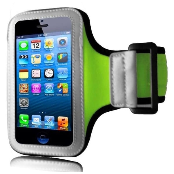 INSTEN Premium Neon Green Sports Fitness Armband Phone Phone Case Cover for Apple iPhone 5 / 5S / SE