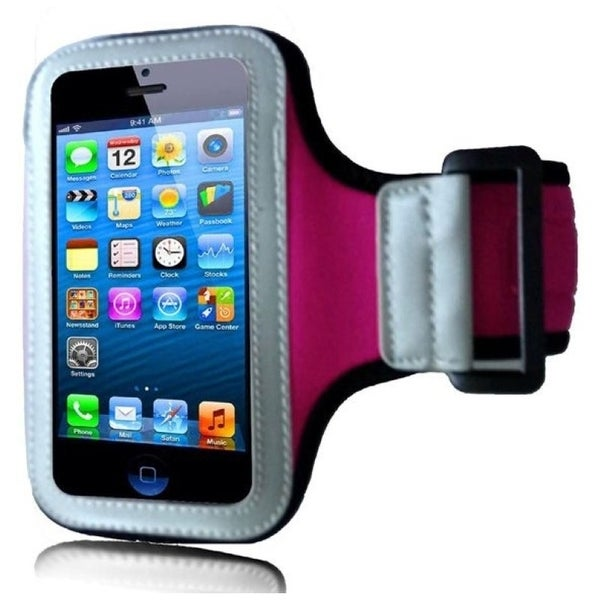 INSTEN Premium Hot Pink Sports Fitness Armband Phone Phone Case Cover for Apple iPhone 5/ 5S