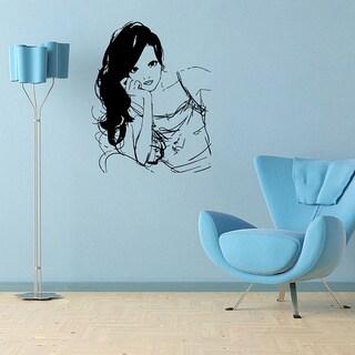 Salon Girl Vinyl Wall Decal
