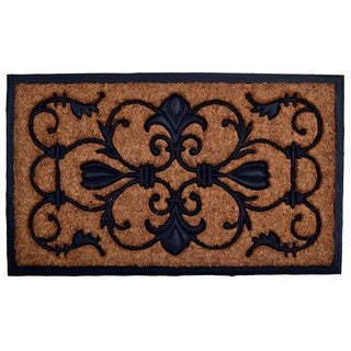 Brigoder Square Coir/ Rubber Door Mat