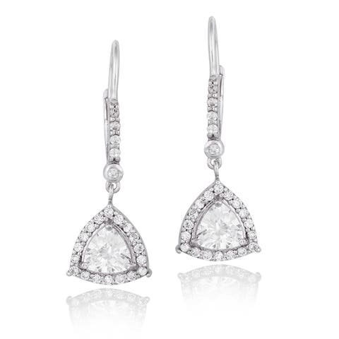 125af680f9679 Buy Trillion Cubic Zirconia Earrings Online at Overstock | Our Best ...