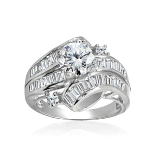 Link to Icz Stones Sterling Silver Polished Round Cubic Zirconia Bridal Engagement Ring Similar Items in Rings