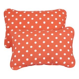 Orange Dots Corded 13 x 20 inch Indoor/ Outdoor Throw Pillows (Set of 2)