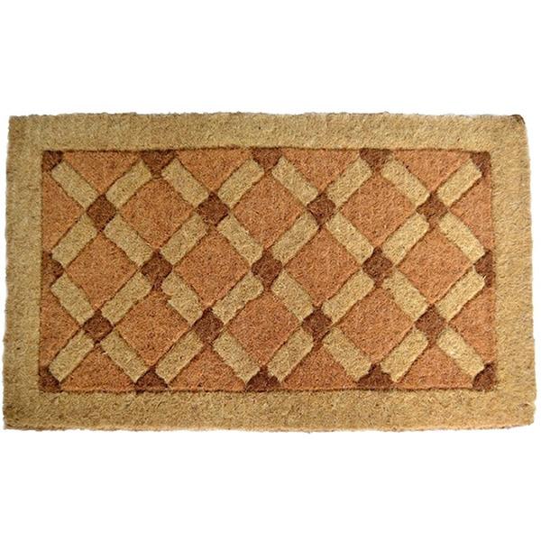 Charmant Cross Board Coir Door Mat
