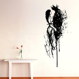 Abstract Couple Vinyl Wall Decal