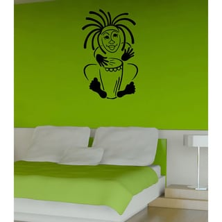 Boy with Drum Vinyl Wall Decal