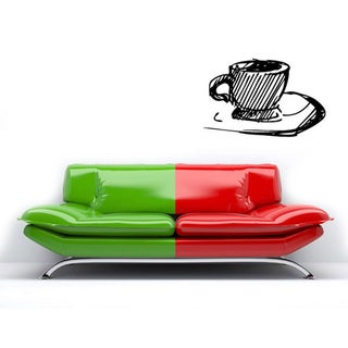 Coffee Cup Vinyl Wall Decal