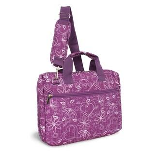 J World Research Purple Love 15-inch Laptop Briefcase