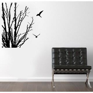 Birds Near Winter Branches Vinyl Wall Decal