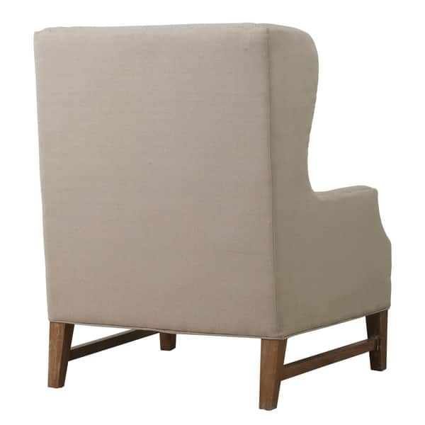 Excellent Shop Devon Linen Wing Chair Free Shipping Today Ibusinesslaw Wood Chair Design Ideas Ibusinesslaworg