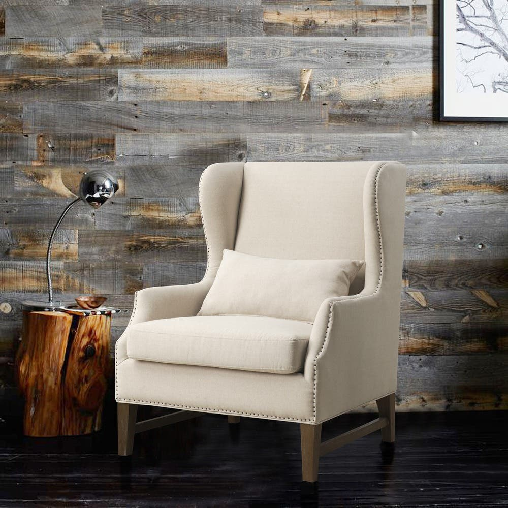 Groovy Shop Devon Linen Wing Chair Free Shipping Today Ibusinesslaw Wood Chair Design Ideas Ibusinesslaworg