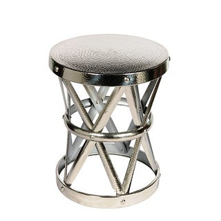 Hammered Drum Cross Nickel Table/Stool