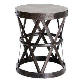 Hammered Drum Cross Dark Bronze Large Table/Stool