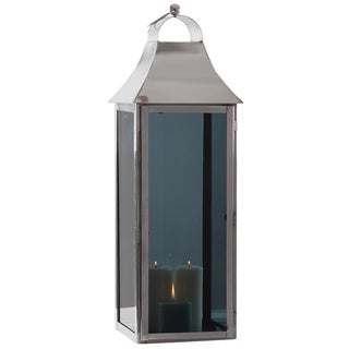 Smoky Glass Large Square Lantern