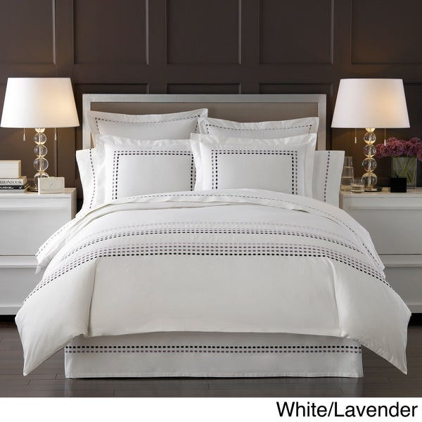 Ombre Box Embroidered 300 Thread Count Duvet Cover