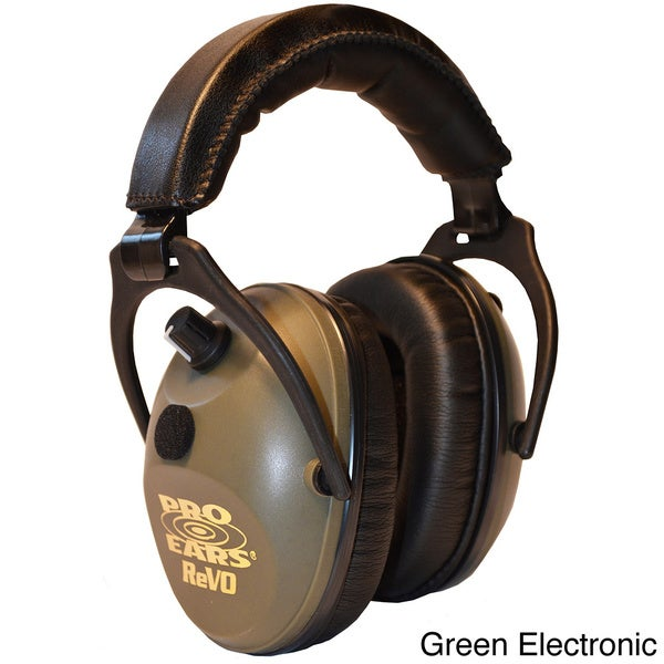 Pro Ears NRR 25 ReVO Green Electronic Hearing Protection and Amplification Youth and Women Ear Muffs