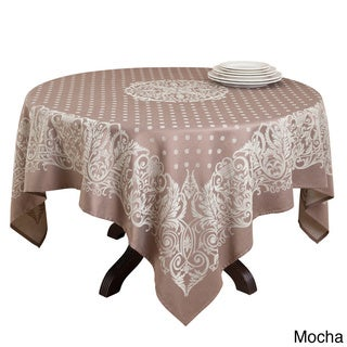 Polyester 72-inch Jacquard Design Tablecloth