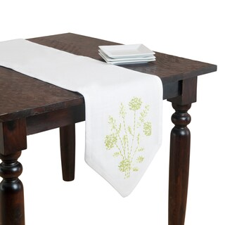 Polyester 74-inch Ribbon Embroidered Table Runner