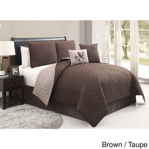 VCNY Stockton 5-piece Reversible Quilt Set