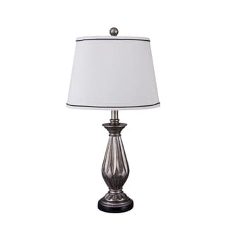 Fangio Lighting's 26-inch Resin Table Lamp with Antique Silver Finish