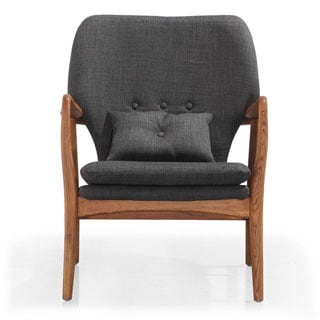Madison Charcoal Linen Lounge Chair