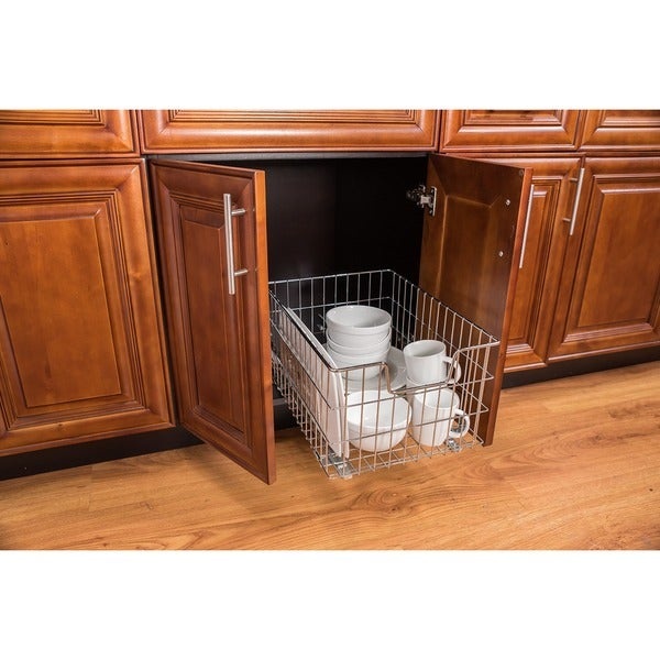 Trinity EcoStorage Space Saver Chrome Tall/Deep Wire Drawer with Slides