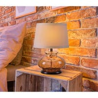 """Jessup 21"""" Table Lamp - Brown Glass"""