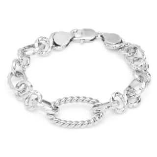 Sterling Essentials Silver Solo Cable Link Bracelet