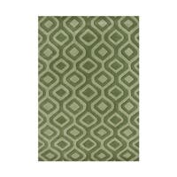 The Dramatic Alliyah Handmade Ogee Trellis Green Area Rug - 8' x 10'