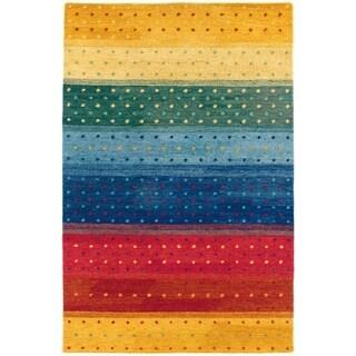 Couristan Oasis Rainbow/Multi Color Wool Area Rug - 3'6 x 5'6