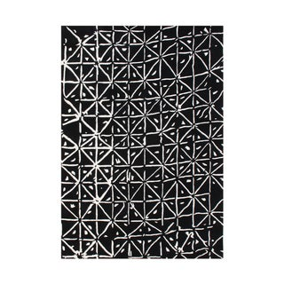 Hand-tufted Black Wool Blend Rug (5' x 8')