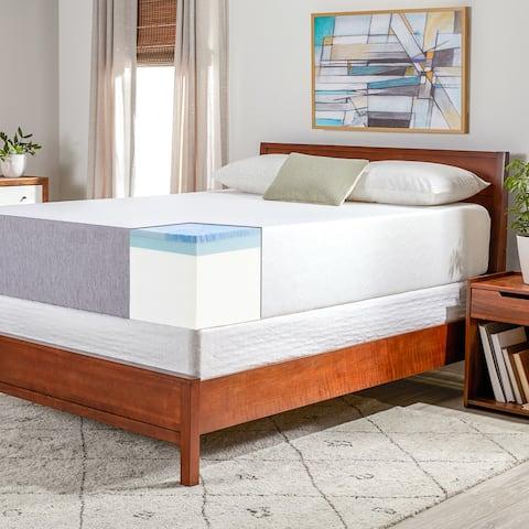 OSleep 14-inch Medium Firm Gel Memory Foam Mattress and Foundation Set
