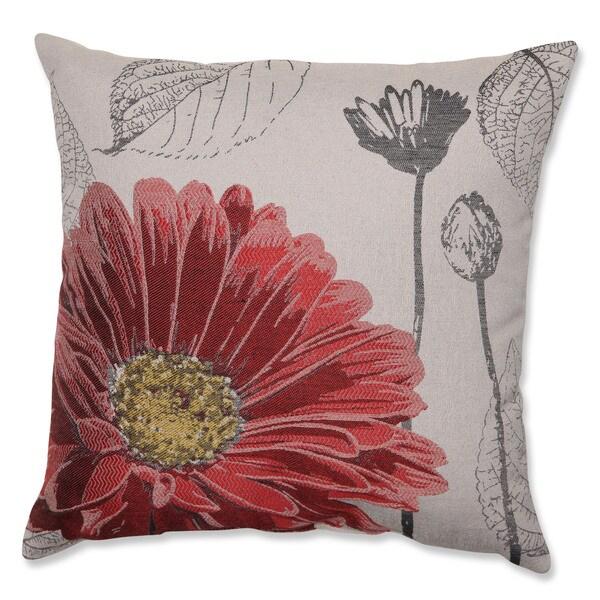 Red Chrysanthemum 18-inch Throw Pillow