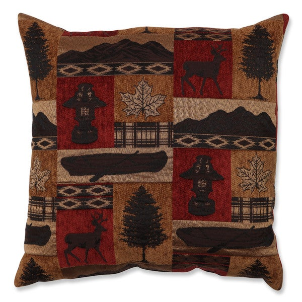 Shop Redstone Lodge 18 Inch Throw Pillow Free Shipping