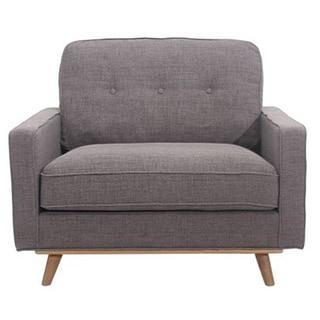 Abbyson Living Davis Grey Linen Fabric Kiln Dried Hardwood Armchair Free Shipping Today