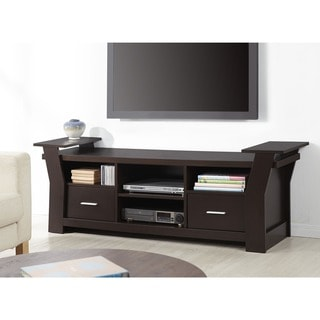 Furniture of America Skyler Contemporary 64-inch Cappuccino 2-drawer TV Console