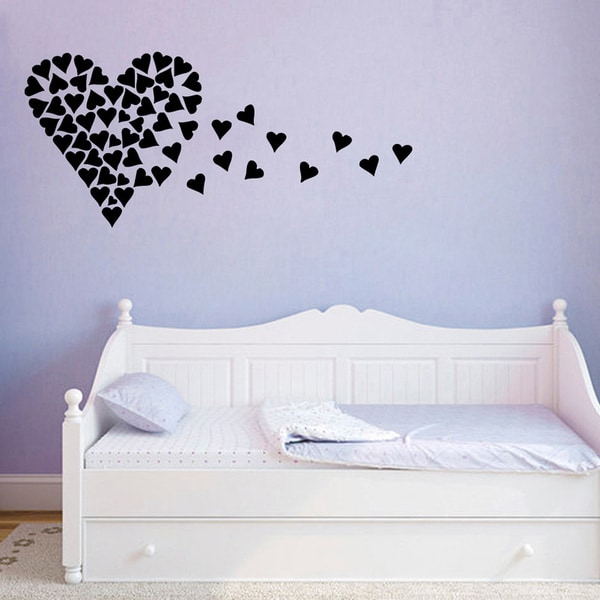 Heart out of Small Hearts Vinyl Wall Decal