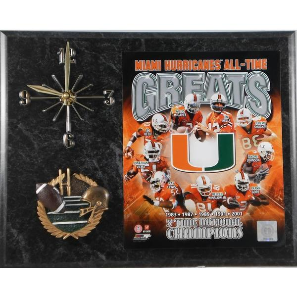 Miami Hurricanes All Time Greats Clock