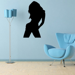 Girl Silhouette Vinyl Wall Decal